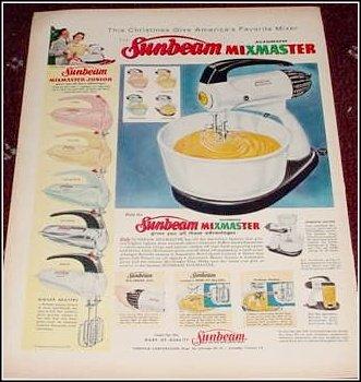 1956 Sunbeam Mixmaster ad