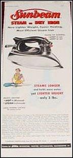 1955 Sunbeam Iron ad