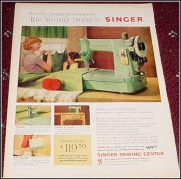 1959 Singer Spatan Sewing Machine ad