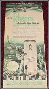 Rheem Water Heater ad