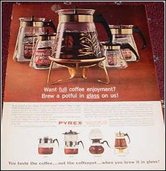 Pyrex Coffeepot ad