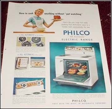1956 Philco Electric Range ad