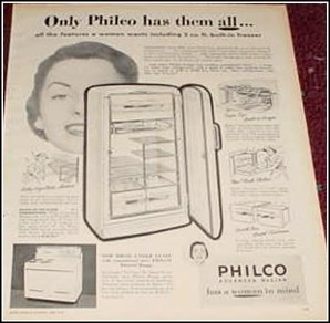 1950 Philco Appliances ad