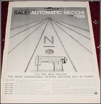 1958 Necchi Sewing Machine ad