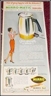 1960 Mirro Electric Percolator ad