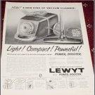 1961 Lewyt Vacum Cleaner ad