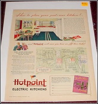 1944 Hotpoint Electric Kitchen ad