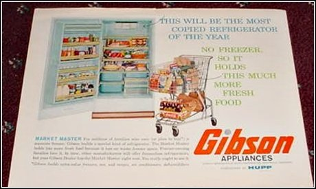1961 Gibson Refrigerator ad