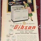 1950 Gibson Electric Range ad