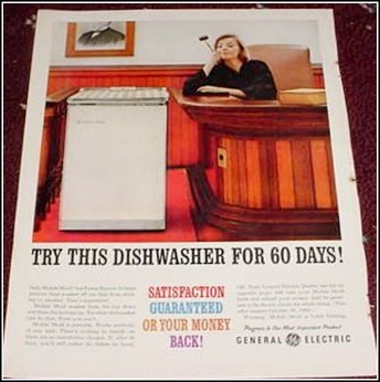 1960 GE Dishwasher ad