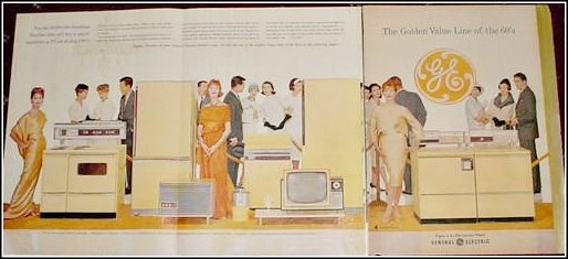 1960 GE Appliances 3 page foldout  ad