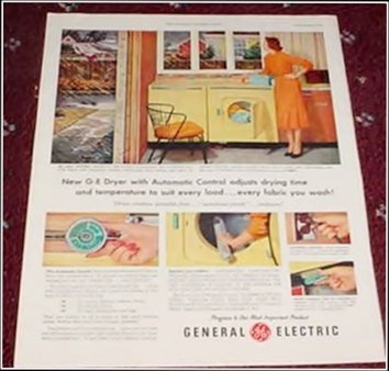1955 GE Washer Dryer ad