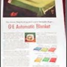 1952 GE Electric Blanket ad