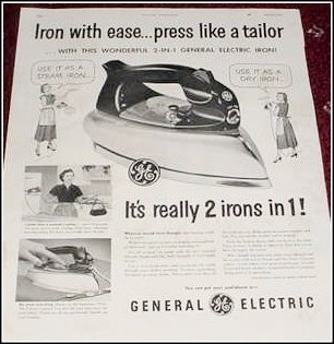 1951 GE Electric Iron ad