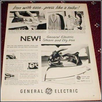 1950 GE Electric Iron ad