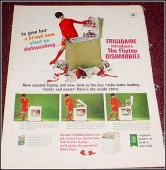 1968 Frigidaire Dishmobile ad