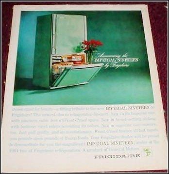 1963 Frigidaire Imperial 19 Refrigerator ad