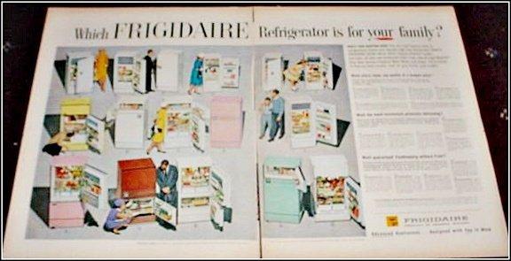 1960 Frigidaire Refrigerator Lineup ad