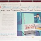 1958 Frigidaire Frostproof Refrigerator ad 50th anniversary