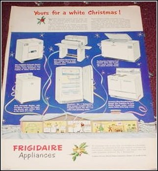 1951 Frigidaire Appliances Christmas ad