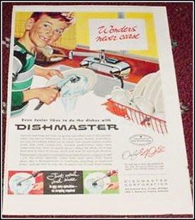 1955 Dishmaster Rinser ad