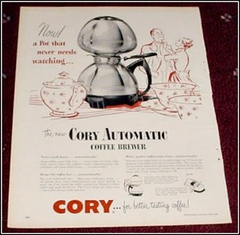 1950 Cory Automatic Coffee Brewer ad