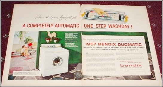 1957 Bendix Washer Dryer ad #3