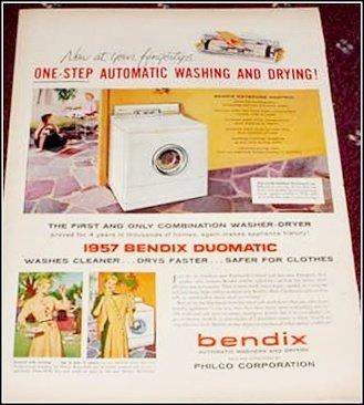 1957 Bendix Washer Dryer ad #1