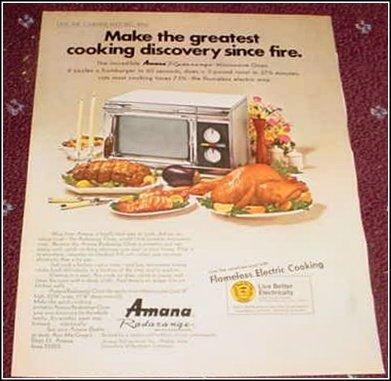 1969 Amana Radarange ad