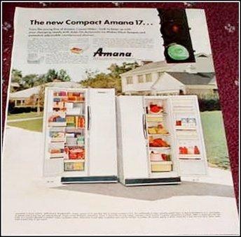 1968 Amana 17 Refrigerator ad