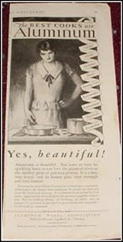 1929 Aluminum Ware ad