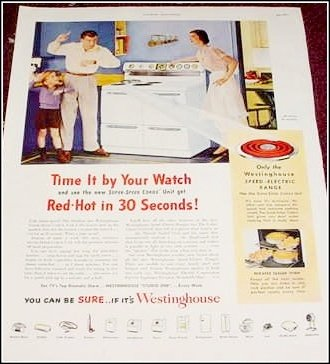 1951 Westinghouse Electric Range ad