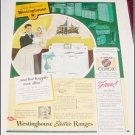 1940 Westinghouse Electric Range ad
