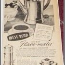 West Bend Flav O Matic Coffeemaker ad