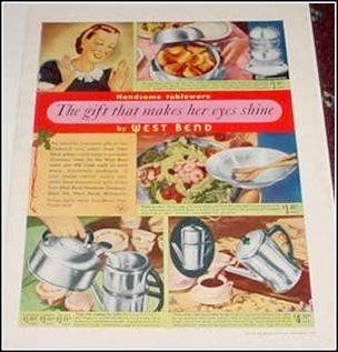 1940 West Bend Tableware ad