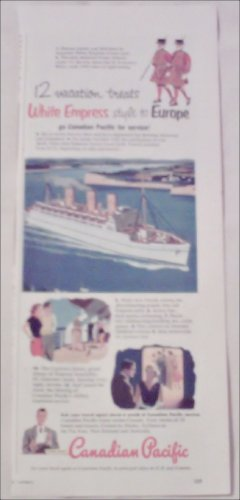1952 Canadian Pacific White Empress ad