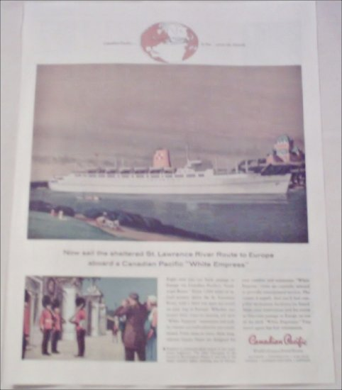 1958 Canadian Pacific White Empress ad