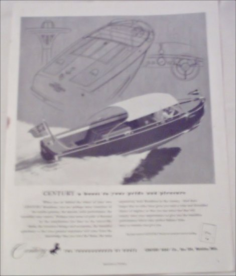 Century Runabout Boat ad
