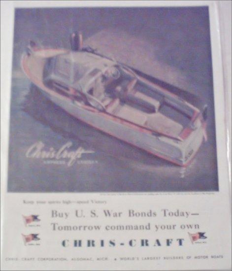 WW II Chris-Craft Express Cruiser Boat ad