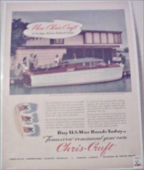 1946 Chris-Craft 27 ft Super Deluxe Enclosed Cruiser Boat ad