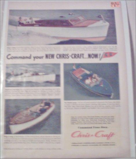 1947 Chris-Craft Boat ad