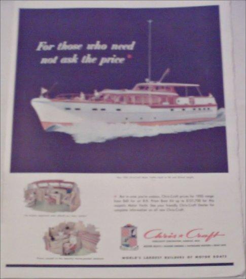 1953 Chris-Craft Motor Yacht ad