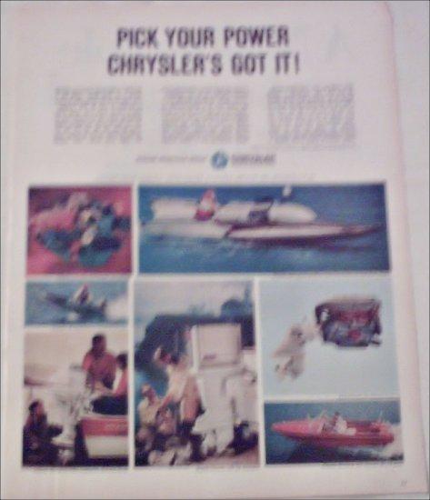 Chrysler Boat ad #1
