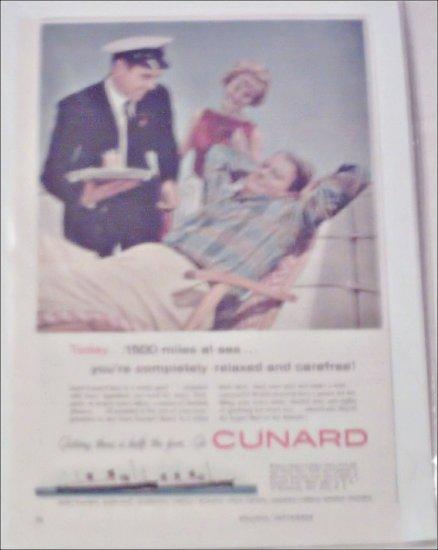 Cunard Line ad