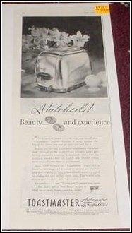 1945 Toastmaster Toaster ad