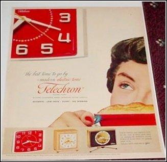 Telechron Clock ad