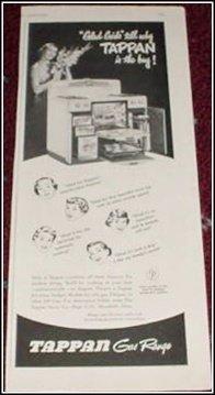 1951 Tappan Gas Range ad
