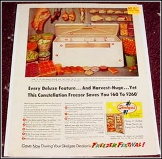 1957 Skelgas Freezer ad