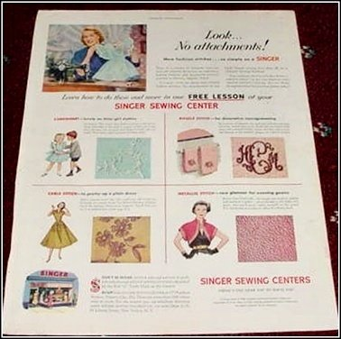 1952 Singer Sewing Center ad #1