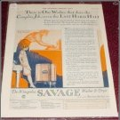 1927 Savage Washer & Dryer ad